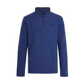 Weird Fish Quarter Zip Grid Fleece Navy