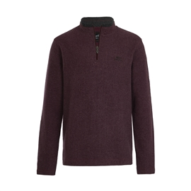 Weird Fish Quarter Zip Grid Fleece Plum