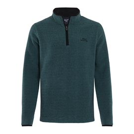 Weird Fish Quarter Zip Textured Fleece Deep Teal