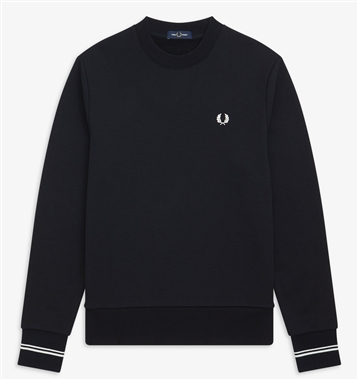 Fred Perry M7535 Black Crew Neck Sweatshirt