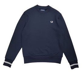 Fred Perry M7535 Navy Crew Neck Sweatshirt