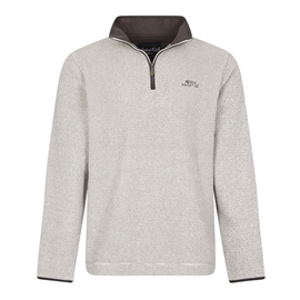Weird Fish Errill Ecru Quarter zip Textured Fleece