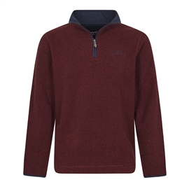 Weird Fish Errill Oxblood Quarter zip Textured Fleece