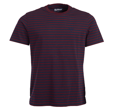 Barbour Delamere Stripe Tee Ruby