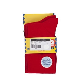 Fine Knee Sock Red