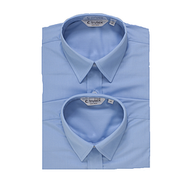 Trutex Short Sleeve Blue Shirts