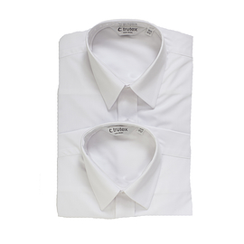 Trutex Short Sleeve White Shirts